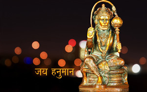 Idol of Jay Hanuman Desktop Background Picture